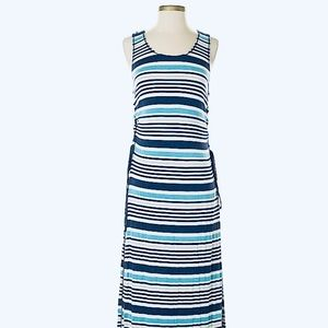 Max Studio Striped Maxi with lace up side xs